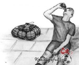 Nach dem Spiel Bier